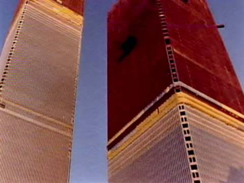 world trade center being built - september 11 2001 attacks stock videos and b-roll footage
