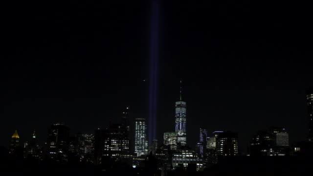 world trade center lights 2018 - september 11 2001 attacks stock videos and b-roll footage