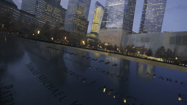 world trade center monument - september 11 2001 attacks stock videos & royalty-free footage