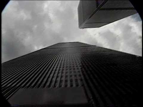 stockvideo's en b-roll-footage met world trade center, tower 2 sign and people leaving tower - petronas twin towers