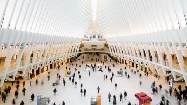 t/l ws zi world trade center transportation hub / new york city, usa - railroad station stock videos & royalty-free footage