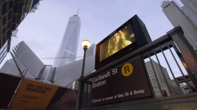 vídeos de stock, filmes e b-roll de world trade center - escrita ocidental
