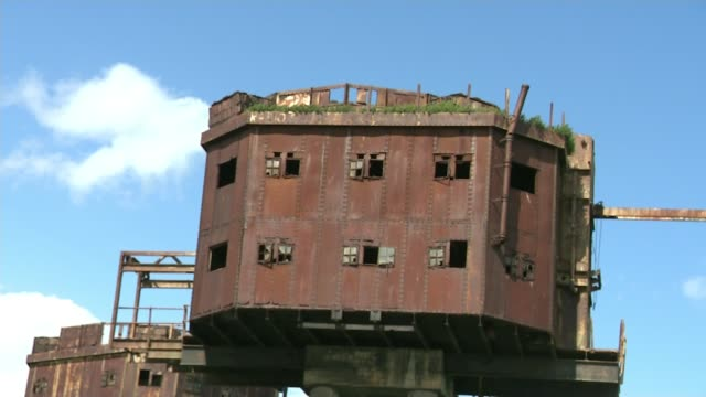 red sands fort falling into disrepair england david phillips interview sot red sands fort - itv london tonight weekend stock videos & royalty-free footage