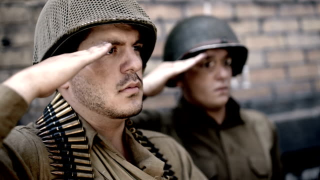 world war 2 soldiers - saluting stock videos & royalty-free footage
