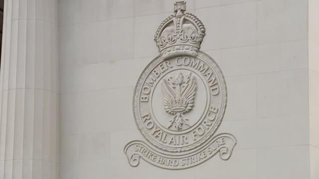 World War 75th anniversary of Dambusters Raid memorial ENGLAND London Green Park RAF Bomber Command Memorial GVs RAF Bomber Command Memorial /...