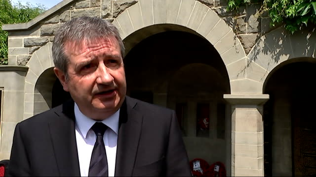 world war i centenary events in london cllr doug taylor interview sot been able to return it to its original look and think it will be there for... - bajonett stock-videos und b-roll-filmmaterial