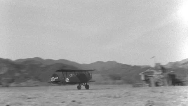 a world war i german military airplane taxis on a field and takes off. - 1927 stock videos & royalty-free footage