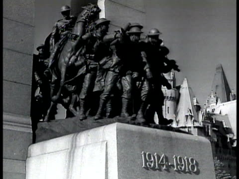 world war i monument canadian troops world war ii canadian soldiers gathered walking at rural railroad station young soldiers standing in train car... - 1943 stock videos and b-roll footage