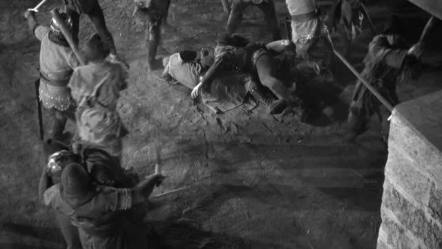 dx  world war ii  aviation  tropical marine base  mls  pan corsair f4u fighter take off r to l  crashed zero  tent and gun in fg  military airplane (nit neg) - world war ii stock-videos und b-roll-filmmaterial