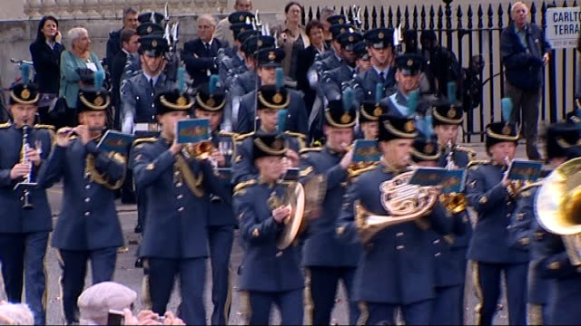 battle of britain 70th anniversary of luftwaffe's attempted aerial invasion of britain england london westminster ext marching band along following... - luftwaffe stock videos and b-roll footage