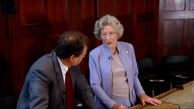 battle of britain 70th anniversary of luftwaffe's attempted aerial invasion of britain joan fanshawe interview sot recalls the day 70 years ago - luftwaffe stock videos and b-roll footage