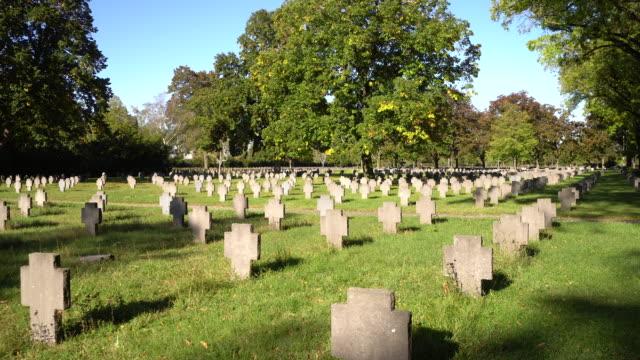world war ii cemetery vienna - vienna austria stock videos & royalty-free footage