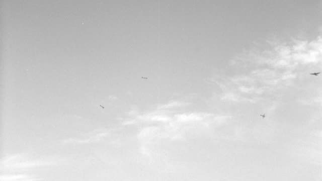 world war ii fighter planes circle each other in a dog fight. - fighting stock videos & royalty-free footage