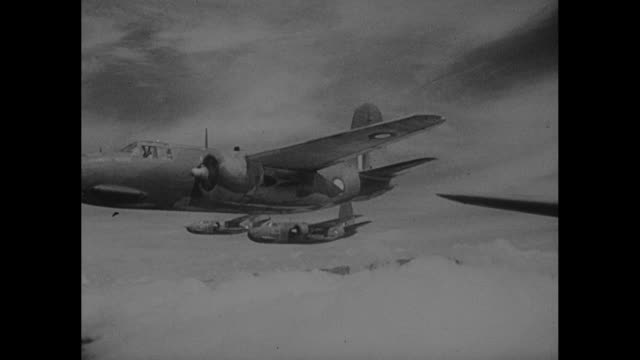 World War II / Pacific theater / planes taking off / B17s and B24s in the air / interior of gun turret / bomb bay doors opening / thumb pushing...