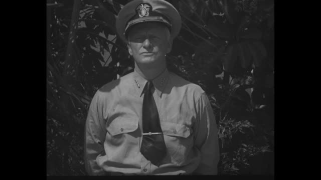 World War II / Pacific theater / the Philippines / Admiral Chester Nimitz announces victory in second Battle of the Philippines / Note exact day not...