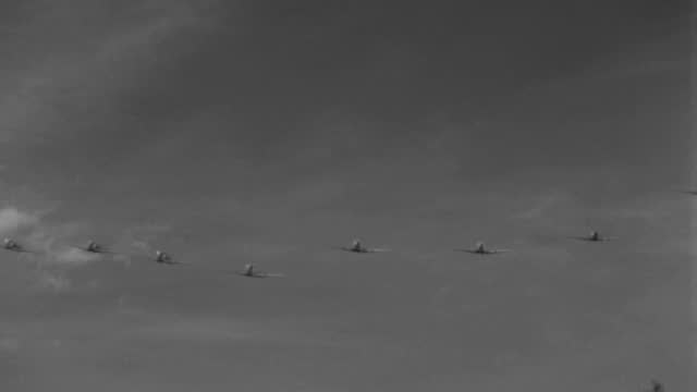 world war ii trainer airplanes fly over treetops. - 1943 stock videos & royalty-free footage