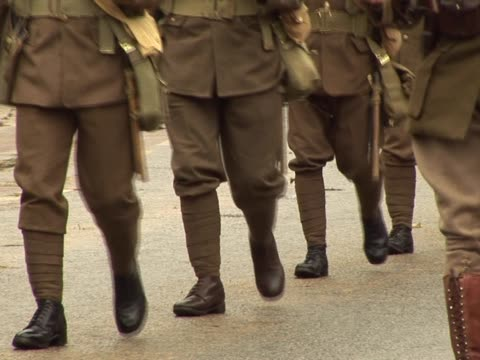 world war one army soldiers marching - world war i stock videos and b-roll footage