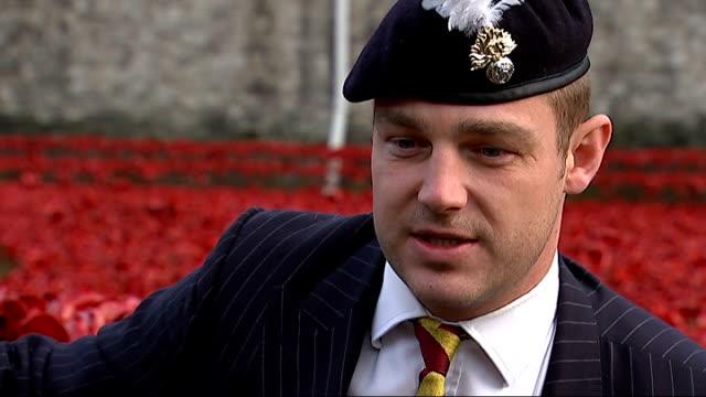 World War One Centenary Armistice Day commemorations Captain Tony Harris interview SOT