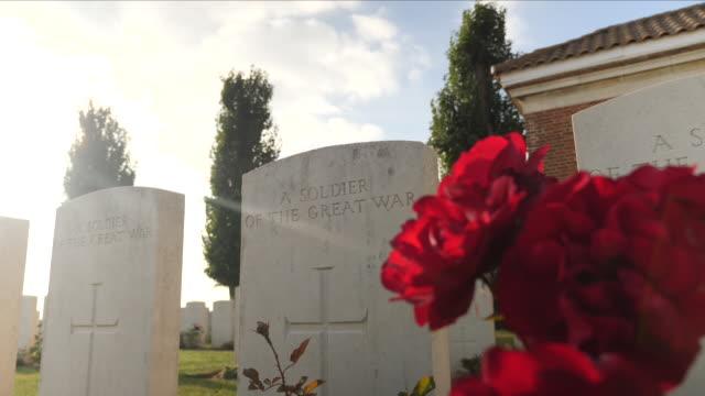 world war one graves - gravestone stock videos & royalty-free footage