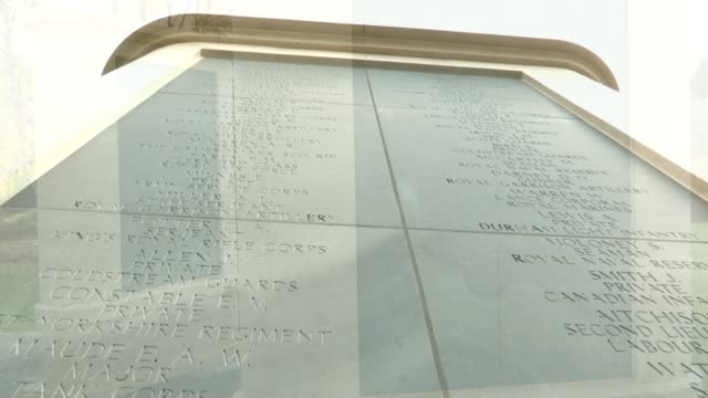 world war one: memorial to the forgotten casualties of the war unveiled; empty panels on the memorial for new names to be engraved names engraved on... - world war one stock videos & royalty-free footage