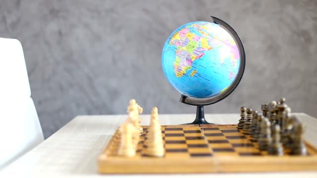 第二次世界大戦ます。チェスのコンセプト - 外交点の映像素材/bロール
