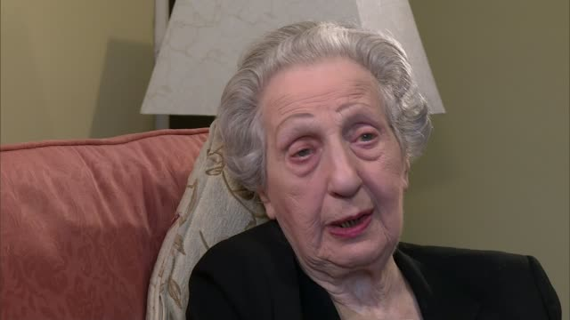 DDay landings switchboard operator to receive Legion d'honneur ENGLAND London INT Marie Scott interview SOT CUTAWAY close shot of Legion d'honneur...