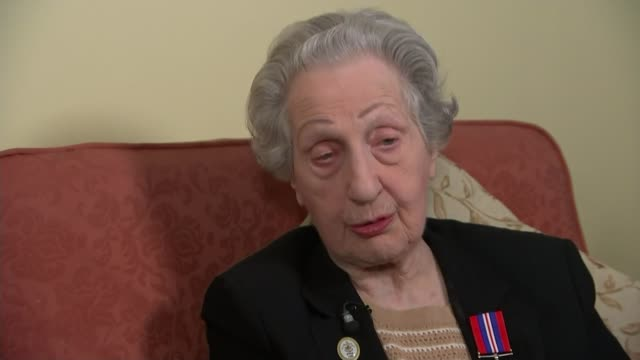 DDay landings switchboard operator to receive Legion d'honneur ENGLAND INT Marie Scott interview SOT Medals Scott Medal