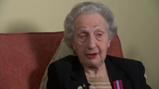DDay landings switchboard operator to receive Legion d'honneur ENGLAND INT Marie Scott interview SOT Close shot of French Legion of Honour medal on...