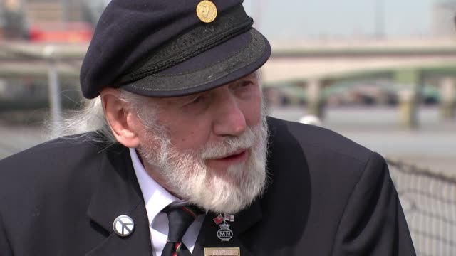 DDay survivor Jim Radford and songwriter recounts traumatic experience ENGLAND London EXT Jim Radford interview SOT