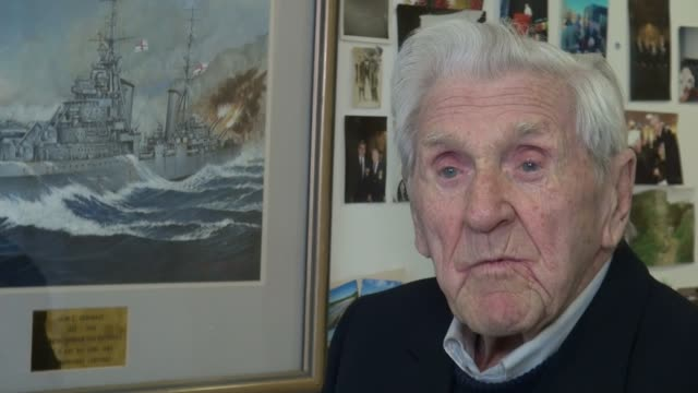 DDay veteran awarded the Legion d'Honneur ENGLAND London Mitcham INT John Nicholls interview SOT