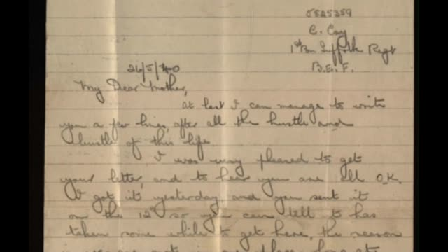 letter from dunkirk soldier arrives 80 years later england int letter from dunkirk soldier to his mother - war and conflict stock videos & royalty-free footage