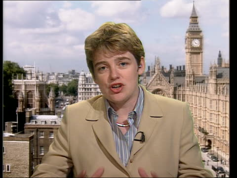 confidence effects; 2-way studio/westminster england: london: westminster: int ruth kelly mp interview sot - must learn lessons and make sure we... - worldcom stock-videos und b-roll-filmmaterial