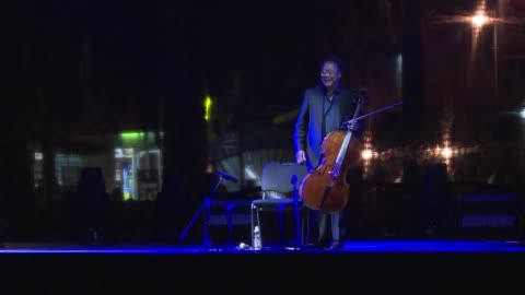 world-renowned chinese american cellist yo-yo ma performs in mexico, as part of a project that began in 2018 to perform johann sebastian bach's six... - johann sebastian bach stock videos & royalty-free footage