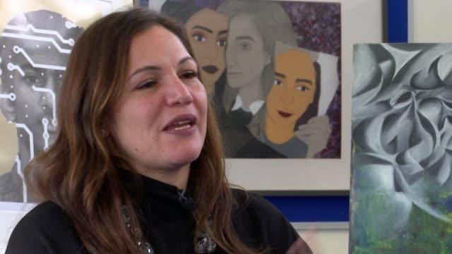 World's Best Teacher winner Andria Zafirakou interview ENGLAND London Alperton INT Andria Zafirakou interview SOT