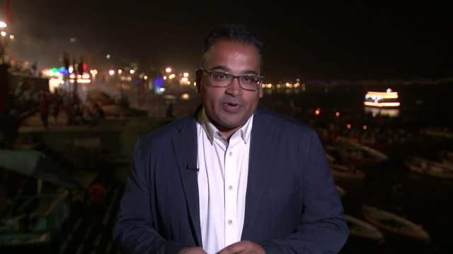 World's largest election battle underway between Modi and Gandhi INDIA Uttar Pradesh Varanasi Reporter to camera SOT