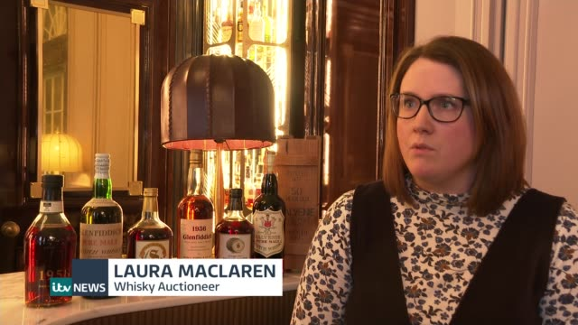 world's largest private whisky collection revealed ahead of auction scotland int laura maclaren interview sot - versteigerung stock-videos und b-roll-filmmaterial