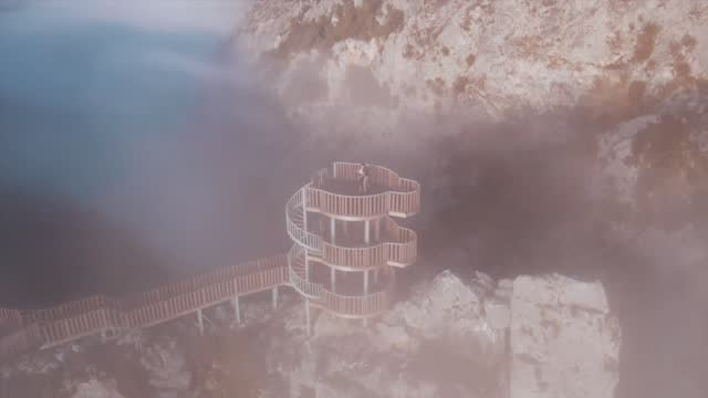 world's second deepest canyon located in turkey's black sea province of kastamonu saw a special performance as it was engulfed by fog during sunrise.... - canyon stock videos & royalty-free footage