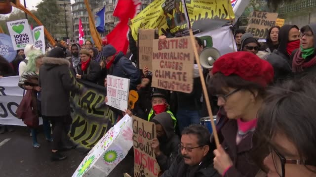 worldwide climate change protests ahead of un climate change conference england london various of people demonstrating in support of action on... - emma thompson stock videos and b-roll footage