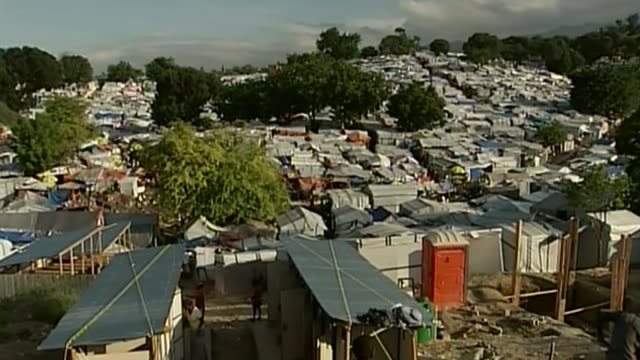 Worldwide condemnation of Donald Trump's remarks about immigration T09111024 / TX High angle views of tents in emergency refugee camp Various shots...