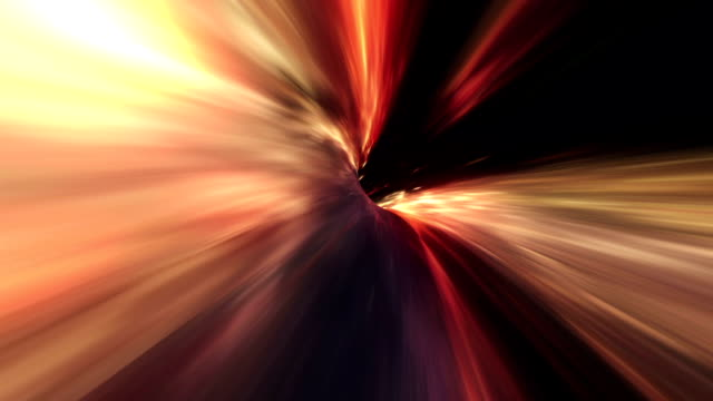 wormhole space travel orange - distorto video stock e b–roll