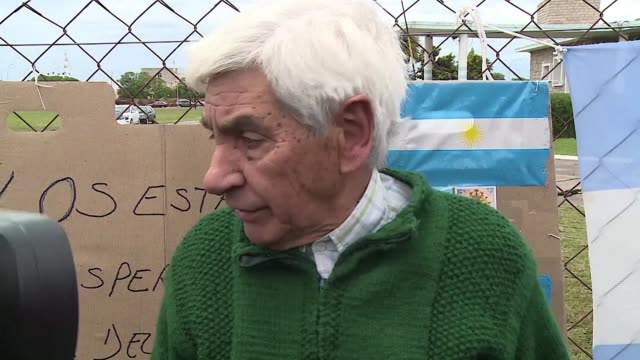 Worried family members in Argentina eagerly await news of their loved ones from the missing submarine which has been gone for over five days off the...