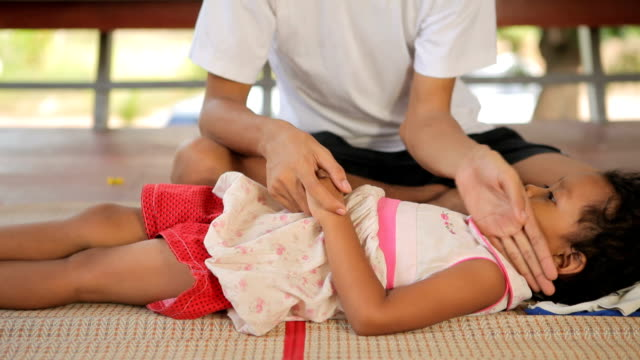 心配父親子供を病気での家庭