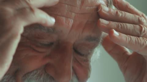 worried senior man - overworked stock videos & royalty-free footage