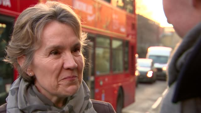 Worries over air quality trigger pollution alerts across the country London EXT Cars along road Reporter talking to Alison Cook Alison Cook interview...