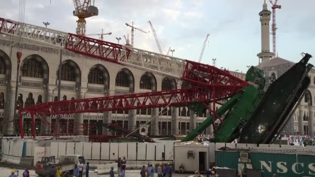 107 worshippers are killed and 238 injured when storms caused a crane to fall in Mecca's Grand Mosque on Friday September 11 2015 Millions of Muslim...