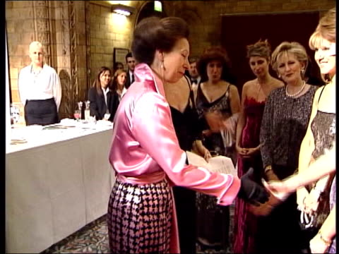 stockvideo's en b-roll-footage met worst dressed women awards lib princess anne wearing pink and black skirt and pink blouse the princess was named as one of the worst dressed women... - blouse