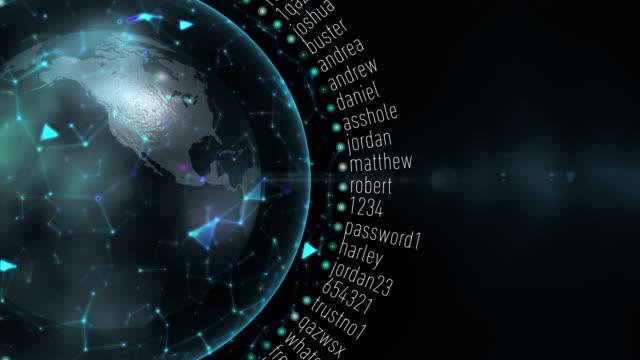 schlechtesten passwörter - passwort stock-videos und b-roll-filmmaterial
