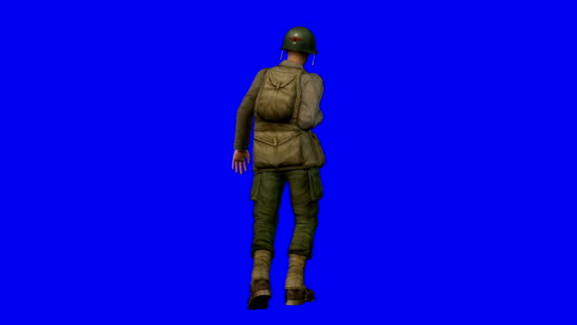 wounded soldier blue screen (loopable) - armed forces stock videos & royalty-free footage