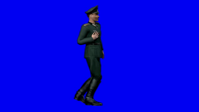 wounded soldier blue screen (loopable) - nazism stock videos & royalty-free footage