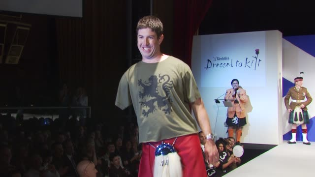 wounded warriors walk the runway at the 8th annual 'dressed to kilt' charity fashion show at new york ny - dressed to kilt stock videos & royalty-free footage